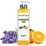 Natural & Organic Massage Oil & Body Oil | Rosehip, Jojoba, Evening Primrose, Sunflower, Lavender &...