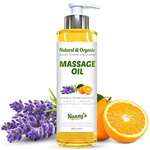 Huile de Massage Naturelle et Bio | Biologique Huiles Essentielles de Lavande et d'Orange |...