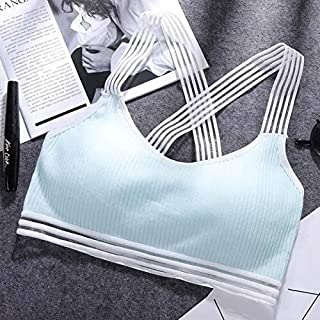 OneChange The New Sports Bra Yoga Tops Female Fitness Gym Running Jacket Padded Vest Underwear Elastic Shock Sport Coat (C...
