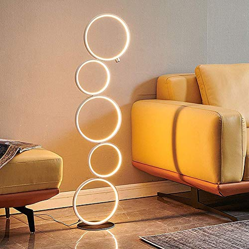 WLP-WF Moderno 45W Led Sala de Estar Luz de Piso Dormitorio Sala de Estudio Luz Estándar Luz de Oficina, Habitación de Niños Loft Bar Lámpara de Pie Hierro Diseño de Aluminio Escritorio Táctil Standl