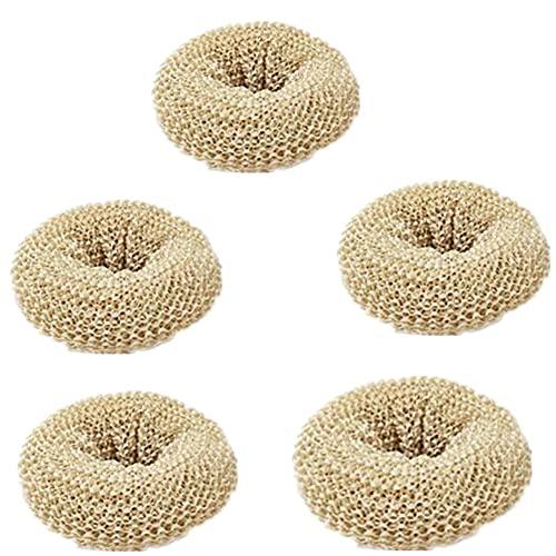 Nanofibers - Bola de depurador con mango para platos, ollas, sartenes y hornos. Fácil fregado para limpieza de cocina (5 cepillos de limpieza)