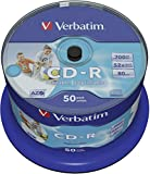 Verbatim CD-R 80MIN Datalife PLUS Printable - Confezione da 50...