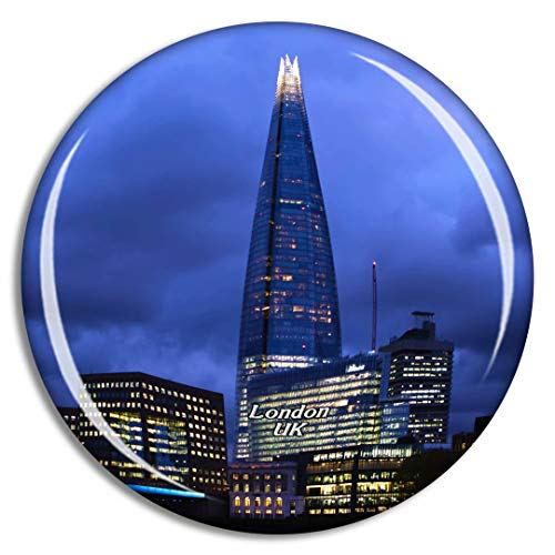 Weekino Regno Unito Inghilterra Londra The Shard Calamità da frigo 3D Cristallo Bicchiere Tourist City Viaggio Souvenir Collezione Regalo Forte Frigorifero Sticker