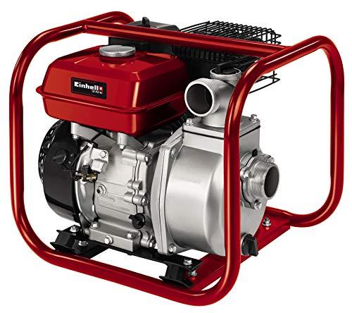 Einhell Benzin-Wasserpumpe GE-PW 46 (4.6 kW, max. 23000 L/h, max. 26 m Förderhöhe, 3,6 l-Tank, Ölmangelsicherung, inkl. Adapter Schlauch-/ AG-Gewindeanschluss)