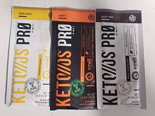 Pruvit Keto OS PRO mix flavor, banana, orange, dark chocolate 3 Pack