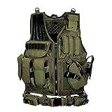 Chaleco táctico , Airsoft Chaleco Táctico Chaleco Placa Portador Swat Chaleco Caza Chaleco Militar Armadura Armadura Policía Chaleco Capacitación al aire libre Chaleco Airsoft para entrenar juegos de