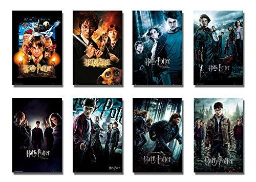 """Harry Potter 1–8–Póster de la película/diseño de (8individual Tamaño Completo Movie Posters–versión 1) (tamaño: 24""""x 36"""" cada)"""