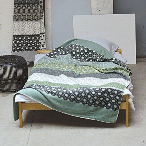 David Fussenegger 21435750 - Bamboo - Wohndecke/Decke - Bordüre - Farbe: Jade - Baumwollgemisch - 150 x 200 cm