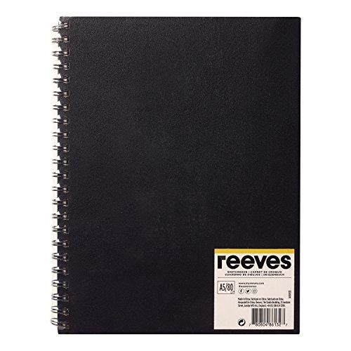 Reeves 8490933 schetsboek - spiraalgebonden 80 vellen tekenpapier, zuurvrij wit papier 96 g/m2 - A5