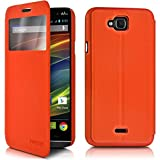 Seluxion-Shell Orange S-View Case Stand Function for Wiko