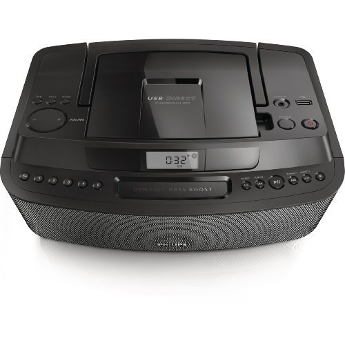 Philips AZ420/12 - Reproductor de radio y CD portátil (tecnología Dynamic Bass Boost), color negro
