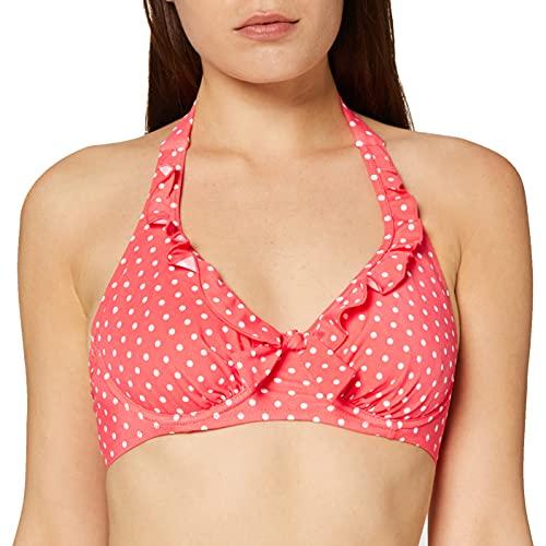 Pour Moi? Hot Spots Halter Underwired Top Parte de Arriba de Bikini, Rosa (Coral Coral), 90G (Talla del Fabricante: 34F) para Mujer