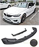 Extreme Online Store Replacement for 2015-Present BMW F80 M3 F82 M4 | EOS APR Performance Style Carbon Fiber Front Bumper Lower Lip Splitter