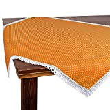 Tischdecke Polka, orange, 85x85 cm Moderne Mitteldecke mit Punkten für das ganze Jahr