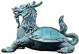 XCTLZG Escultura de Escritorio Bronce Cabeza de dragón Estatua de Tortuga Escultura de Animales Figuras de Arte Escritorio Chino Feng Shui Decoración Joyería auspiciosa Regalos (Color: Grande)
