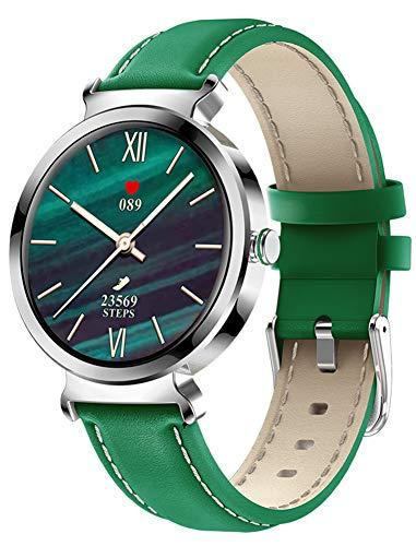 XWZ Reloj Inteligente para Mujer, Pulsera Inteligente, Smartwatch, Rastreador Deportivo Impermeable, Reloj Rastreador De Fitness, Reloj Inteligente para Mujer De Moda, Reloj De Pulsera,Verde