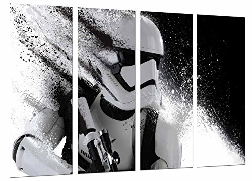Quadro fotografico Star Wars, casco esercito Darth Vader dimensioni totali: 131 x 62 cm XXL