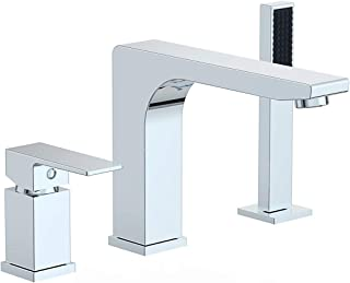Ultra Faucets Icon Collection Roman Tub Faucet with Hand Shower (Chrome)