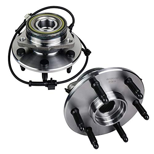 Autoround 515036 2PCS Wheel Hub and Bearing Assembly Front Axle for 4x4 Cadillac Escalade/ESV/EXT, Chevrolet Avalanche/Express/Silverado/Suburban, GMC Savana/Sierra/Yukon