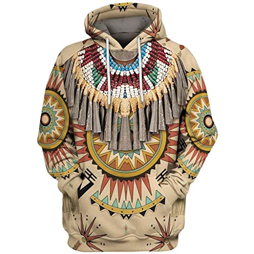 Affordable jin&Co Mens Sweatshirt Hoodie 3D Print Pullover Pocket Plus Size Ethnic Vintage Hooded ...