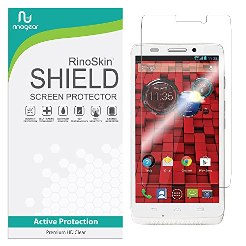 RinoGear Screen Protector for Motorola Droid MAXX/ULTRA Case Friendly Motorola Droid MAXX/ULTRA Screen Protector Accessory Full Coverage Clear Film