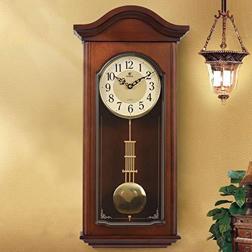 LOISK Retro Wanduhr mit Pendel Funk Große mechanische Standuhr Uhr, Regulator, Pendeluhr antik Holz Küche, Wohnzimmer, Diele/Flur, Schlafzimmer Uhr