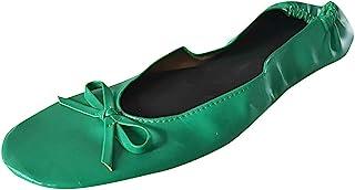 DAIFINEY Gesloten ballerina's voor dames, halfhoge schoenen, elegante comfortabele loafers, slippers, vrijetijdsschoen.