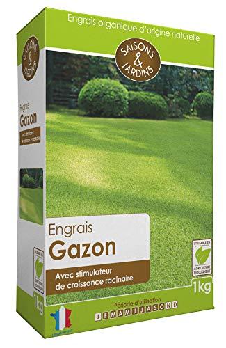 R'Garden   Engrais Organique Gazon Pelouse   Engrais Ecologique Biologique   Fertilisant Naturel   Nourrit en Profondeur   Facile d'Utilisation   1KG
