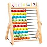 jojofuny Holz Abacus Math Tool Holzperle Abakus Pädagogisches Zählen Chinesischer Rechner Mathe Berechnungswerkzeug Für Studenten 650G
