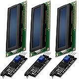AZDelivery 3 x Modulo Pantalla LCD Display Azul HD44780 1602 con Interfaz I2C 16x2 caracteres blancos compatible con Arduino con E-Book incluido!