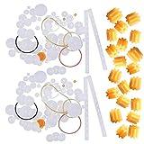 Counius 150 Piezas Juego de Engranajes de Plástico Polea Cinturón de Gusano Kits Con 20 1,4 mm Engranaje de Husillo Accesorios Modelo for Bricolaje Coche Juguete Componentes