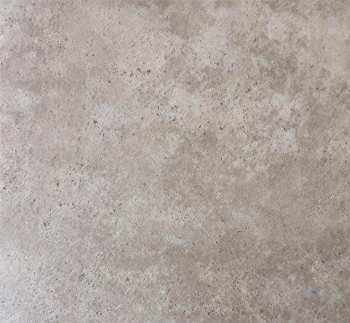 PVC Vinyl-Bodenbelag im beigen Bruchsteindekor| Muster PVC-Belag | CV-Boden wird in benötigter Größe als Meterware geliefert | rutschhemmend