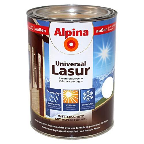 Alpina Universal Holzlasur, Ebenholz, 4 Liter, außen