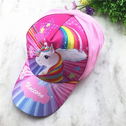 SUNMM Einstellbare Einhorn Regenbogen Print Kids Sonnenhut Sport Baseball Cap Kids Party Geschenke Cute Pink Girl Outdoor Hat, 1.