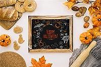 Qinunipoto 背景布 ハロウィン happy halloween 写真の背景 ペストリー かぼちゃ カエデの葉 フルーツ 背景幕 人物撮影 スタジオのプロ背景幕 写真ブース撮影 小道具 撮影用 cosplay背景 ビニール 2.5x1.8m
