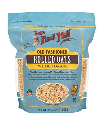 Bob#039s Red Mill Old Fashioned Regular Rolled Oats 32 Ounce Pack of 1