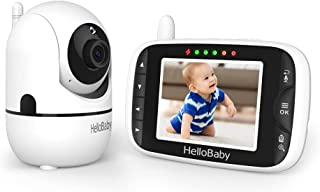 Baby Monitor,HelloBaby Remote Pan-Tilt-Zoom Baby Monitor with Camera and Audio,Night Version Temperature Sensor, 2 Way Aud...