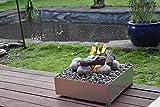 COALS 4 YOU Feuerschale, Edelstahl, 160 x 420 x 420 mm