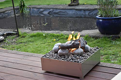 Coals 4 You Fire pit, Stainless Steel, H160 x W420 x D420mm