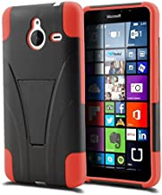 Microsoft Lumia 640 XL Phone Case, [Storm Buy ] Premium Hard & Soft Sturdy Durable Rugged Shell Hybrid Protective [ Anti Scratch ] Phone Case Cover with Built in Kickstand (Red)