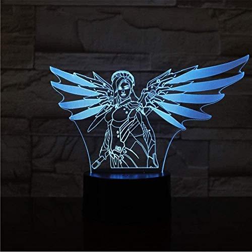 Spiel Overwatch 3D Lampe Tisch Schlafzimmer Actionfigur dekorative Lampe 7 Farbwechsel LED Nachtlicht Wohnkultur