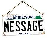 Toasted Merch Plaque d'immatriculation américaine Personnalisable avec nom personnalisé en métal imprimé, Minnesota, Twine