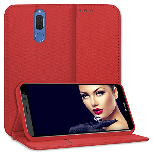 mtb more energy® Schutz-Tasche Bookstyle für Huawei Mate 10 Lite / G10 (5.9'') - rot - Kunstleder - Klapp-Cover Hülle Hülle