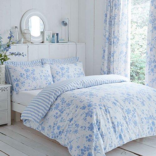 Charlotte Thomas Amelie - Set copripiumino per letto matrimoniale, motivo floreale, colore: blu