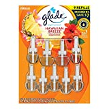 Glade Hawaiin Limited Edition PlugIns Scented Oils Refills 25% More 8 Ct-Hawaiian Breeze, Yellow