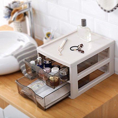 WuShuang Kosmetik Aufbewahrungsbox Kunststoff Schublade Typ transparent Kommode Hautpflege Produkte Rack Office Finishing Rack File Rahmen, B