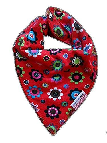 JNY JNY Colourful Kids Baby Mädchen/Jungen Halstuch Verschiedene Designs zur Auswahl Neu (Blumen auf rot)