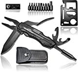 BERGGEIST® Multi-Tool Survival Taschenmesser Set aus Edelstahl | Klappmesser & Zange | Inklusive...