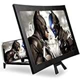 14 Inch 3D Screen Magnifier for Smartphone – Curved HD Mobile Phone Amplifier Screen – Foldable Phone Screen Amplifier – Compatible with Android, iPhone and Gaming Devices – Screen Enlarger