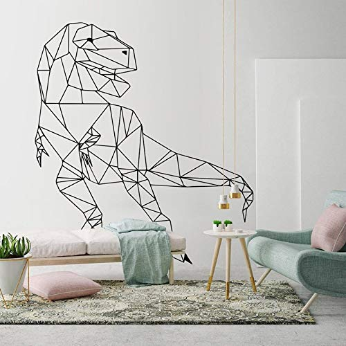 Dinosaur vinyl sticker world geometric wall art decoration outline animal decal gift for kids 51X57cm
